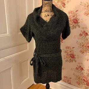 Gray Cowl Neck Sweater Dress
